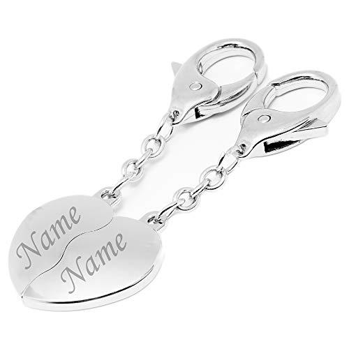 Schlüsselanhänger Wunschgravur 4cm Länge individuell Geschenk Lieblingsmensch